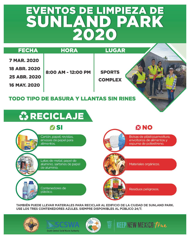 Eventos de Reciclado en Sunland Park